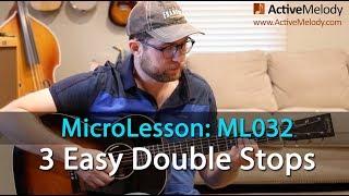 Learn 3 Easy Double Stops - Essential Double Stops for Improvising - Guitar Lesson - ML032
