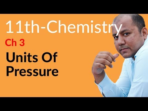 FSC Part 1 Chemistry, Ch 3 - Define Units of Pressure - 11th Class Chemistry