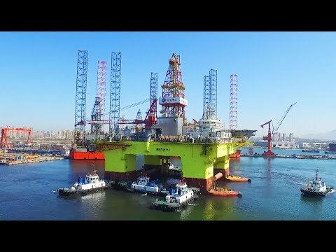 China's new homemade semi-submersible drilling rig put into operation
