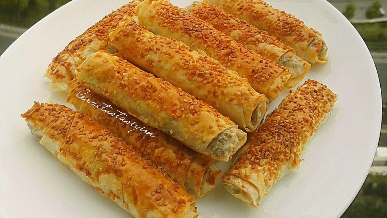 Kıymalı Patatesli Rulo Börek