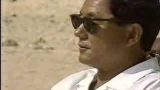 ソナチネの名シーン「砂浜での紙相撲」シーンの撮影風景。