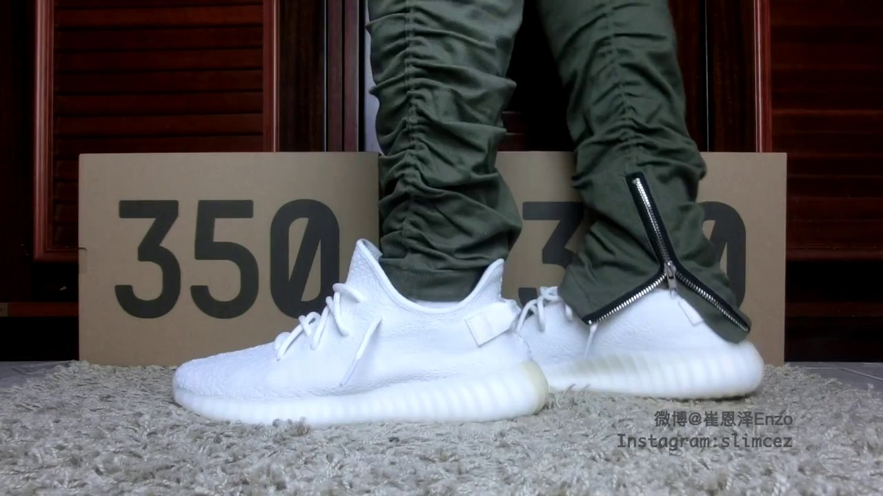 YEEZY BOOST 350 V2 Cream White EARLY BEFORE RELEASE Detail/On Feet Review细节+上脚测评