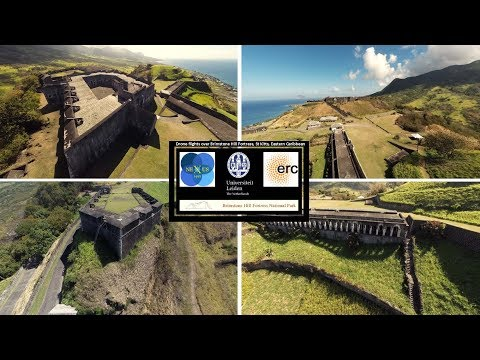 Drone flights over Brimstone Hill Fortress, St Kitts, Eastern Caribbean