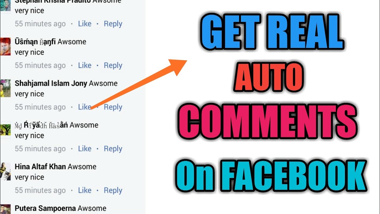 How To Get Real Auto Comments On Facebook 2019 Fb Auto Comments