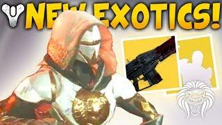 Destiny 2: NEW EXOTICS & DLC UPDATES! New Trials Gear, Hidden Items, Hunter Patch & January Update