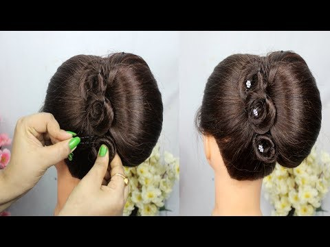 easy-french-roll-hairstyle-with-clutcher-–-french-bun-hairstyle-trick-easy-hairstyles-for-party