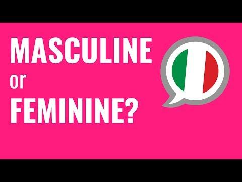 Ask an Italian Teacher - Nouns: Masculine or Feminine? - YouTube
