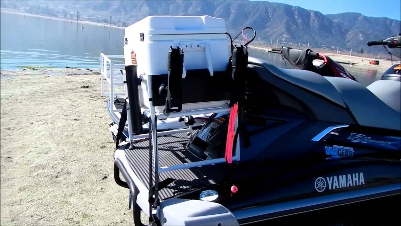 Jet Ski Fishing Cooler Rack Safety Video Youtube