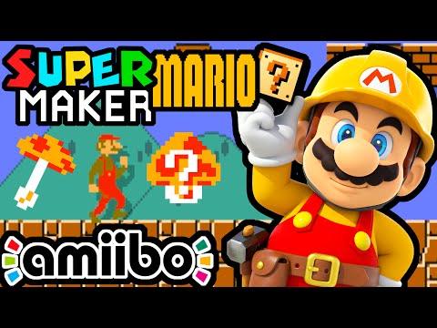 Super Mario Maker PART 1 Gameplay Walkthrough (Bowser Jr Amiibo, Skinny Mario, Splatoon Level) Wii U