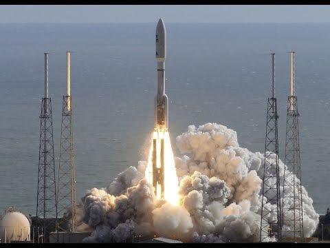Rocket launch off Cape Canaveral Florida