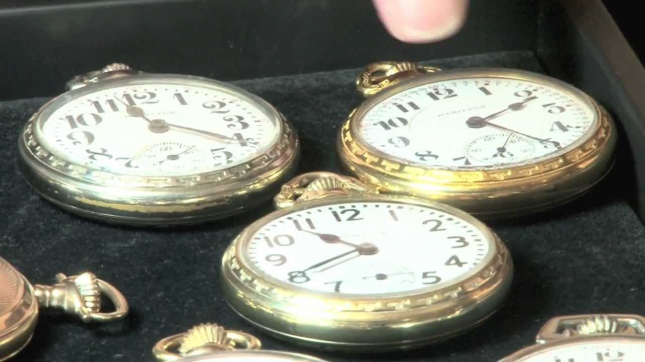 3f964fc38 8 Different Pocket Watches 7 Hamilton Railroad and 1 Waltham by The Pocket  Watch Guy