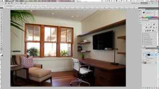 Adding an image to a blank TV Screen.  Real Estate Photography Tutorial