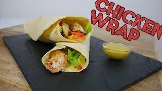 Schnelle Chicken Wraps mit Honig-Senf-Sauce   Let's Cook