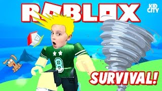 ROBLOX: Natural Disasters Survival Game - Tornadoes! Earthquakes! Fire!