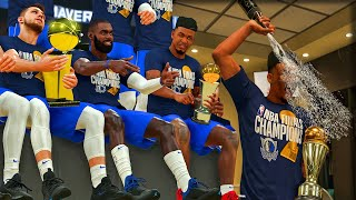Sweeping The NBA Finals | Free Throw Line Dunk! Champagne Shower Celebration | NBA 2k20 MyCareer #20