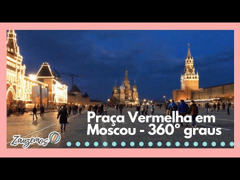 Giro de 360 graus pela Praça Vermelha em Moscou, na Rússia