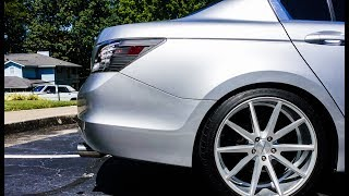 BORLA Exhaust on 8th Gen Honda Accord, With Resonator Delete | VOSSEN VFS1 RIMS
