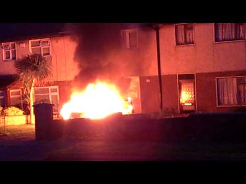 Car fire tallaght