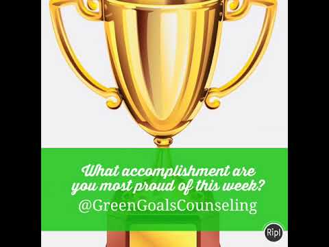What accomplishment are you most proud of this week? - YouTube