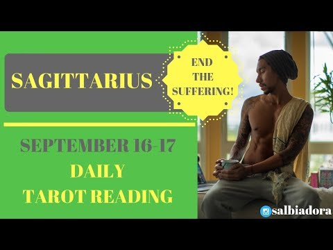 """SAGITTARIUS - """"SOMEONE IS HOLDING BACK AND SUFFERING"""" SEPTEMBER 16-17 DAILY TAROT READING"""