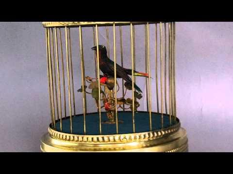 Antique German KG Singing Bird Cage Music Box
