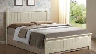 Кровать из массива гевеи I-3655, цвет белый с патиной(Небольшой обзор деревянной кровати производства Малайзии I-3655. Кровать в стиле «шебби шик» из массива геве..., 2015-09-03T08:42:13.000Z)