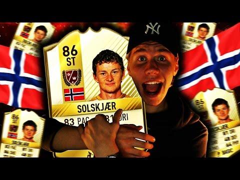 OLE GUNNAR SOLSKJÆR PÅ FIFA 17!! FUT DRAFT MED NORGES FØRSTE LEGENDE!!