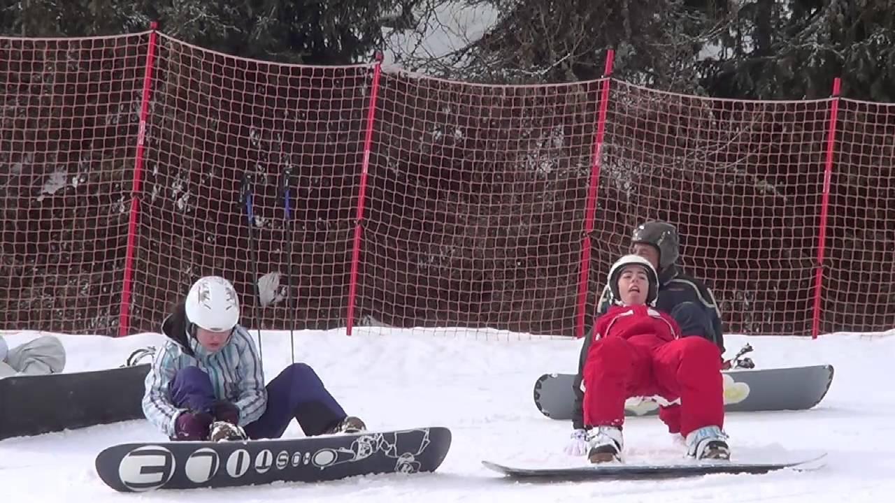 Anna folgaria primo giorno di sci