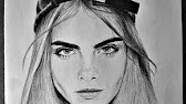 Dibujo a lpiz  Pencil Drawing Cara Delevingne  YouTube