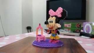 HSANHE 恆三和 鑽石積木 米妮米老鼠 組裝完成品展示