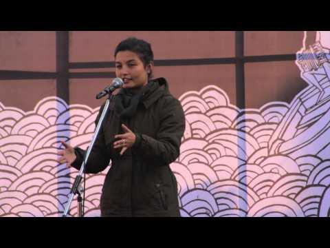 Ujjwala Maharjan Performing Her Poem