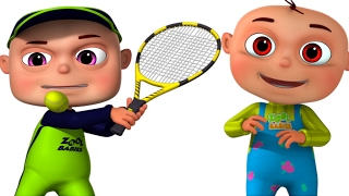 Zool Babies Playing Tennis | Cartoon Animation For Children | Funny Comedy Show