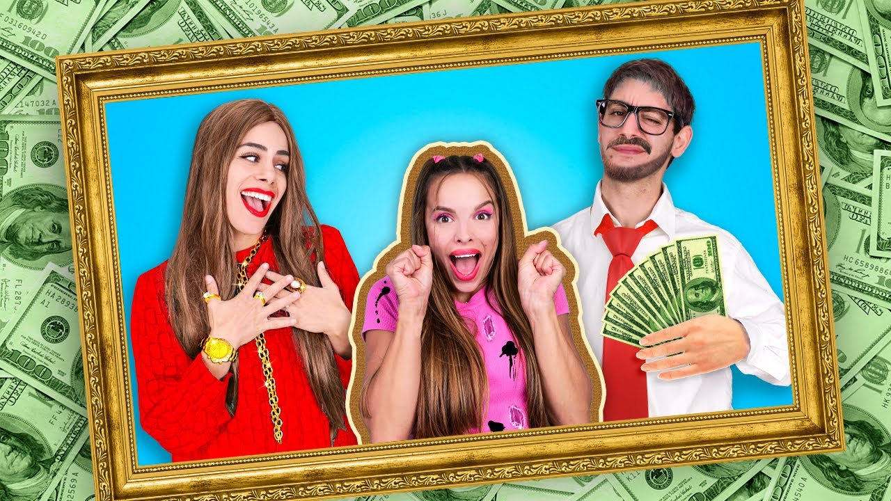 Download Rich VS Broke - POOR Girl in RICH Family | 24 Hours Challenge - Funny and Relatable by La La Life