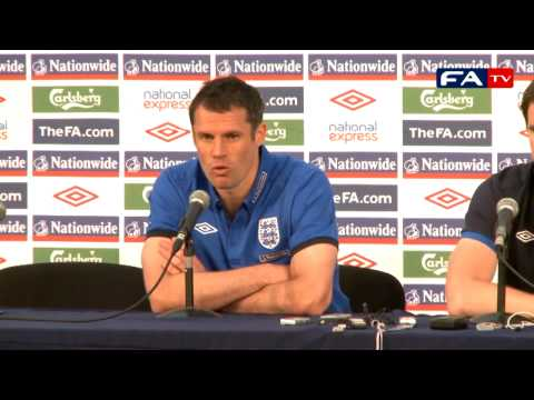 World Cup 2010 - Jamie Carragher - England Press Conference 14/06/10