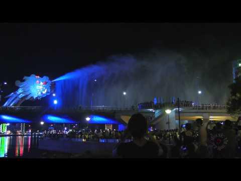 Cầu Rồng phun lửa và phịt nước và đổi mầu 2 HD*