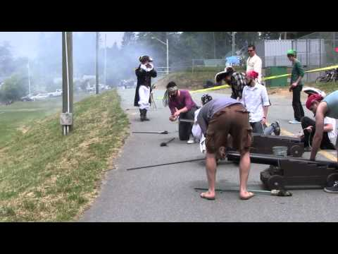 Canada Day Salt Spring Island Part 2 Cannon Shooting