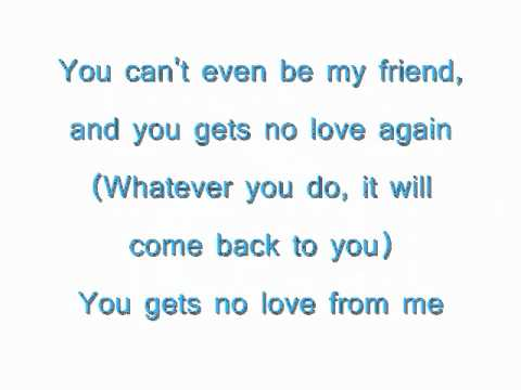 Faith Evans- You Gets No Love Lyrics video.wmv