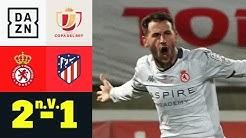 Drittligist schockt Simeones Madrilenen! Leonesa - Atletico Madrid 2:1 n.V.   Copa del Rey   DAZN
