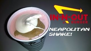 Trying In-N-Out's Neapolitan Shake (ft. FreakEating)