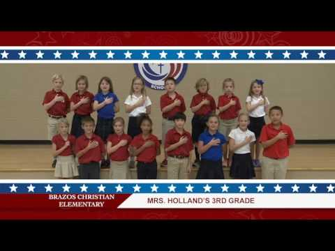 Daily Pledge-Brazos Christian School-Mrs. Holland