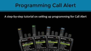 Programming G-Series P25 Voice Pager- P25 Paging using Call Alert