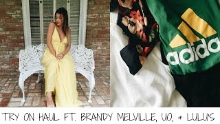 TRY ON HAUL FT. BRANDY MELVILLE, UO, & LULU'S