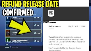 *NEW* Fortnite: REFUND SYSTEM OFFICIAL RELEASE DATE! | How To Get FREE V-Bucks In Fortnite!