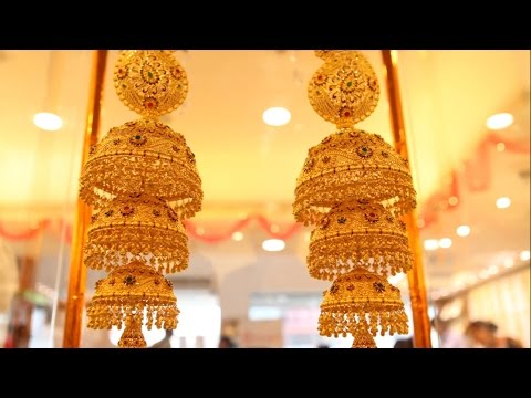 Latest Earrings Stud Design Jewelery At GRT Jewellers - Hybiz.tv