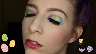 Marbled Easter Egg Eye Tutorial | Kat Von D Pastel Goth | Music Only except for the intro