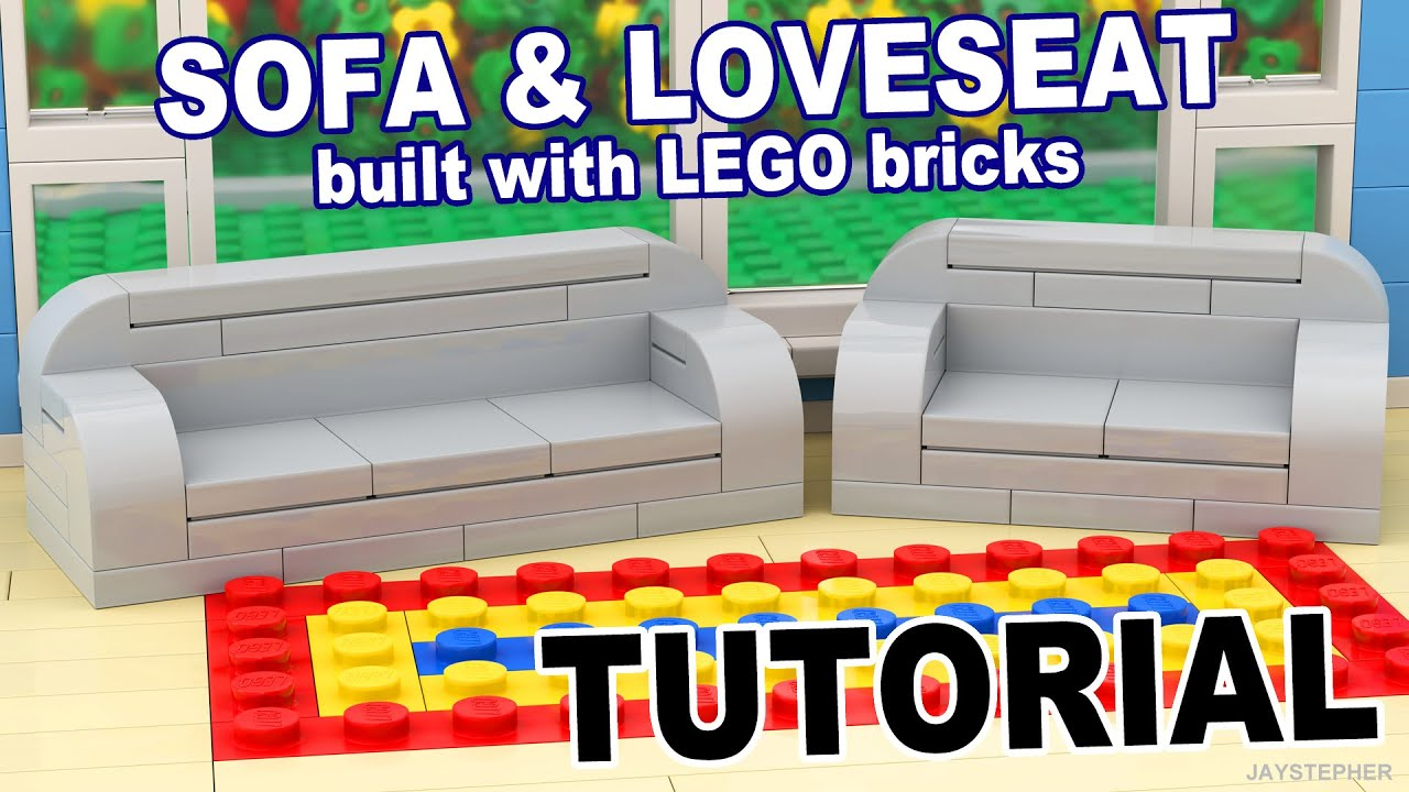 Tutorial Lego Sofa And Loveseat Cc Youtube