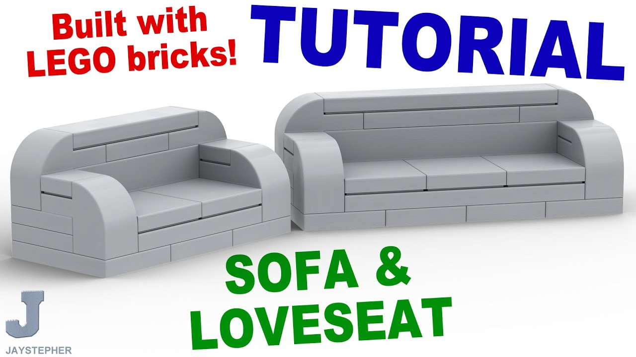 How To Make A Simple Lego Sofa Bjs Recliner Tutorial And Loveseat Cc Youtube