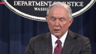 LIVE STREAM: Attorney General Jeff Sessions holds Press Conference on Russia (2/3/2017) LIVE SPEECH Free HD Video