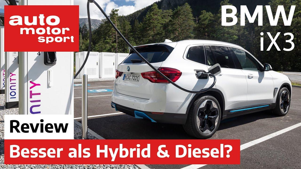 BMW iX3 (2020): Ist der Stromer besser als Hybrid & Diesel? - Fahrbericht/Review   auto motor sp