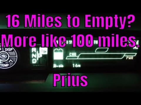 How many miles to empty on my 2011 Prius?